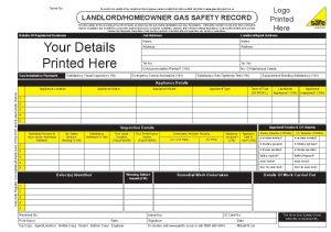 Housing Association Landlord/Homeowner Gas Safety Record